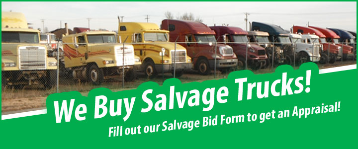 We buy salvage trucks for parts!
